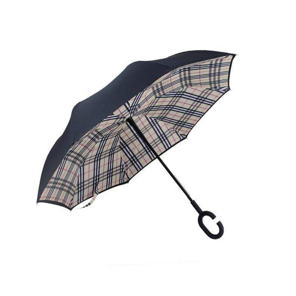 AvenueDuBuzz StayDry Beige Plaid StayDry™ - Parapluie Réversible
