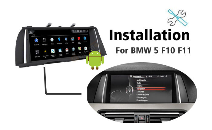 How to install Android BMW F10 F11 Navigation GPS Head unit