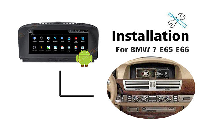 Android BMW 7 series E65 E66 Navigation GPS Installation Guidence