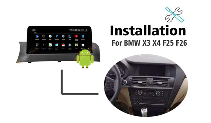 Installation manual for BMW X3 X4 Navigation GPS Android screen replacement