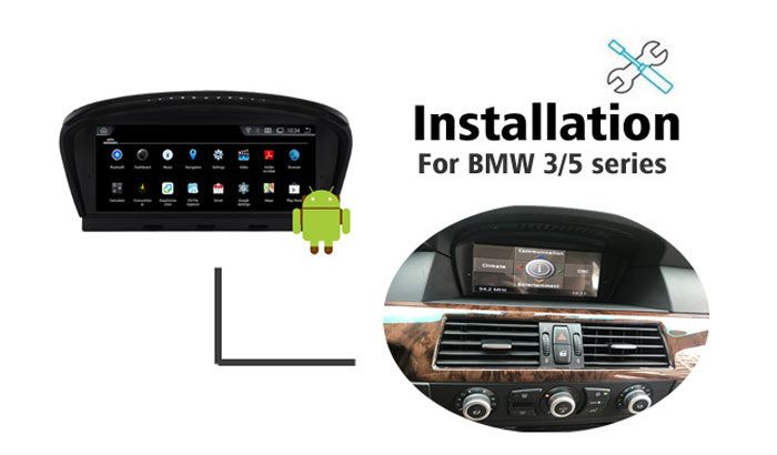 Android BMW E60 Navigation Installation - BMW 3/5 series CIC CCC GPS upgrade