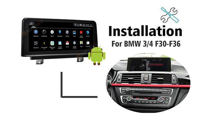Installation for BMW 3/4 series Navigation GPS (For BMW F30 ~F36 2013-2018)