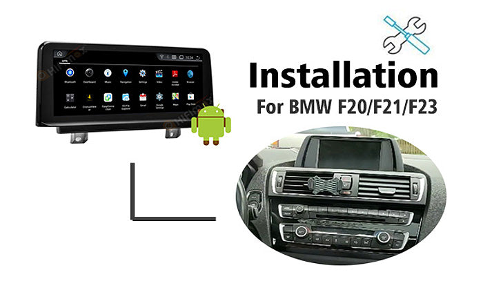 Installation for BMW F20 F21 F23 Navigation GPS upgrade Android Screen