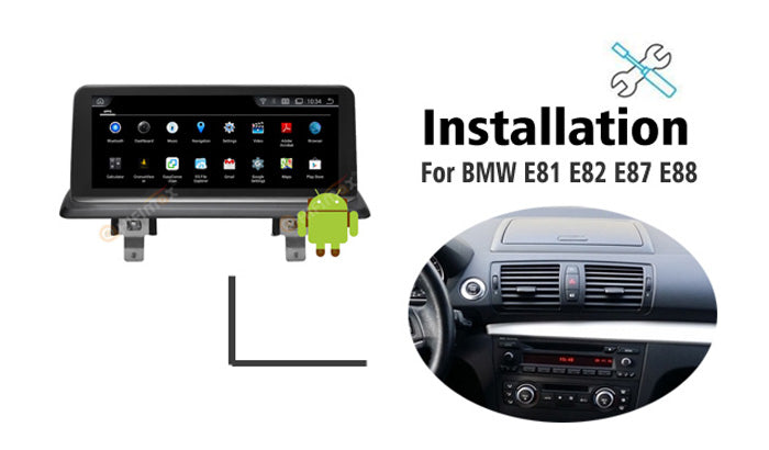 Android BMW 1 series E87 E88 E81 E82 Navigation GPS installation Guidence