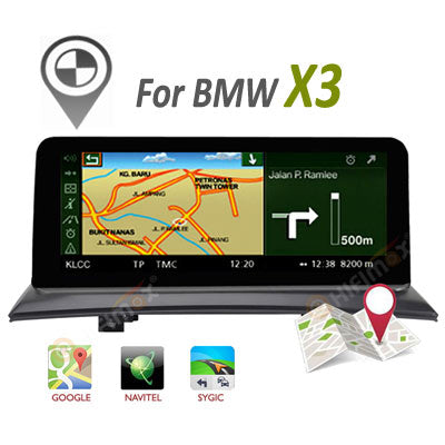 bmw x3 android screen gps navigation