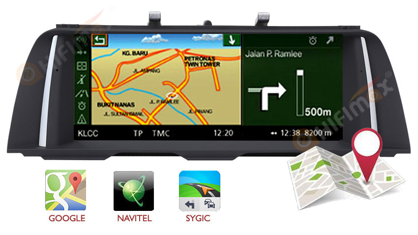bmw f10 f11 navigation gps head unit compatible with google map, sygic,igo,waze etc