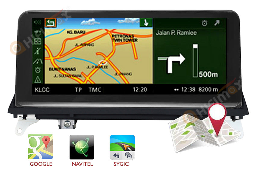 bmw x5 x6 car radio built-in gps navigation support google map