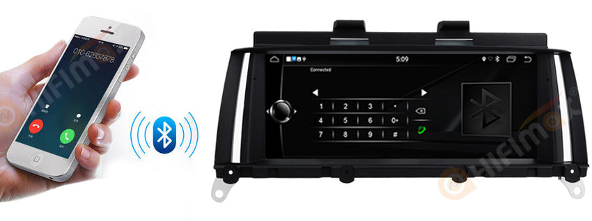 bmw x3 x4 navigation head unit with bluetooth Hands-Free Calling and Audio Streaming