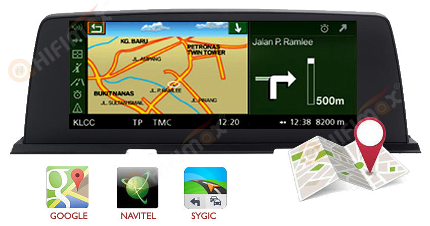 BMW 6 Series F06 F12 android gps navigation support google map, waze, navitel ,igo etc
