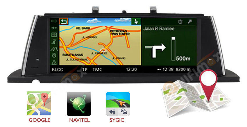 BMW 5 Series F07 GT gps nav system support google map, waze,igo ,sygic etc
