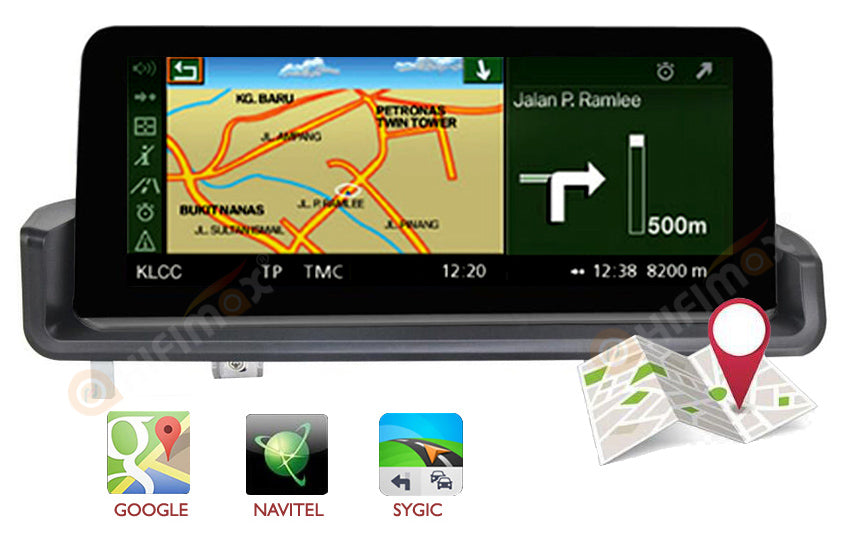 bmw e90 e91 e92 e93 navigation support google map,waze, igo, sygic ,