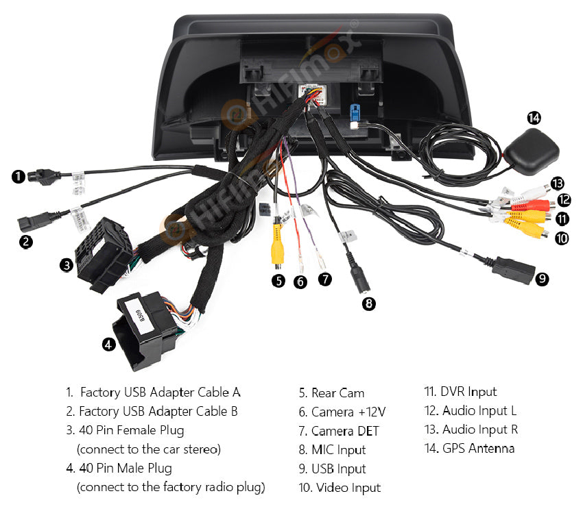 bmw x3 e83 car multimedia back view