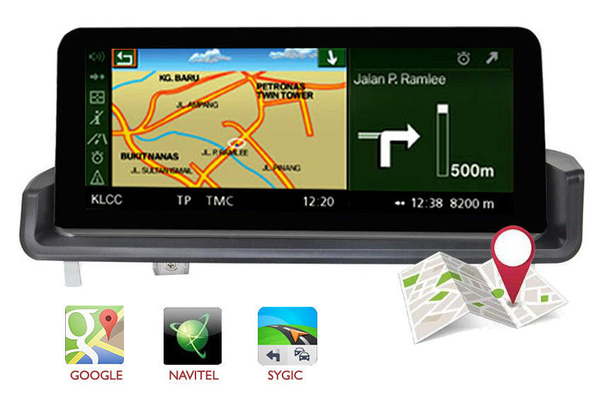 bmw e90 e91 e92 e93  gps navigation support google map waze, igo etc