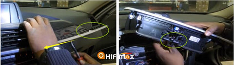 bmw 3 4 series navigation installation : remove the dash panel