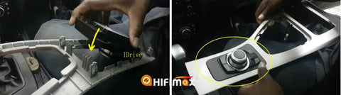 install the idrive knob in the bmw 3 series e90 central console