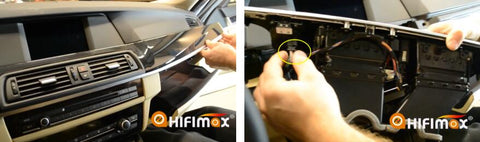 bmw f10 f11 navigation installation-remove AC panel