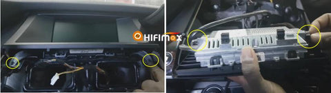 take out the factory bmw x5 x6 monitor and remove it's LVDS cable
