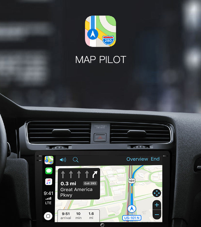 carplay navigation map display