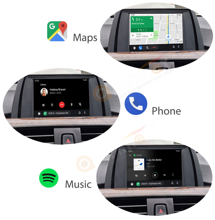 android auto support navigation maps,phone calls, and music playback