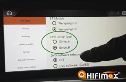 change the type of idrive to CCC iDrive Type B