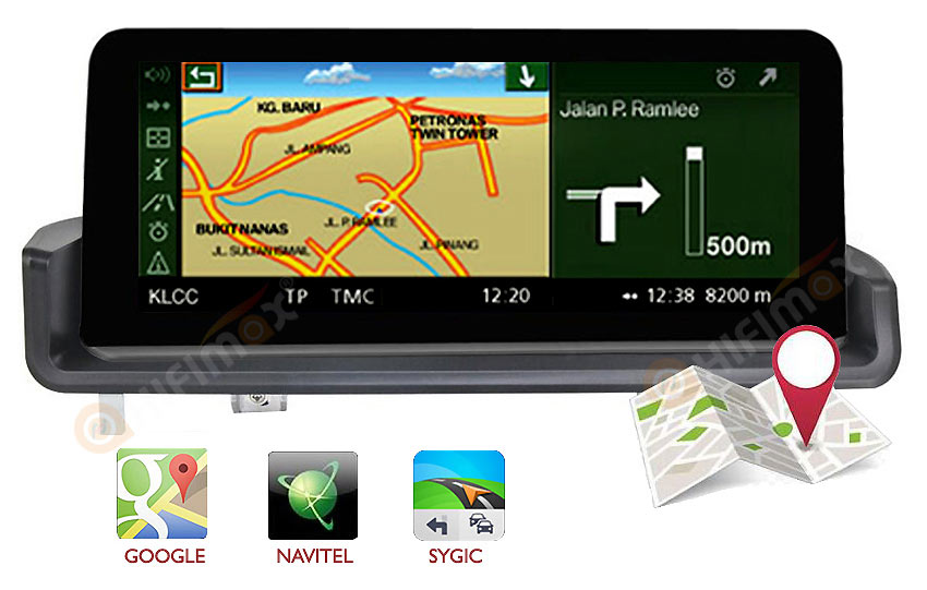 bmw 3 series navigation gps support igo,sygic,google map