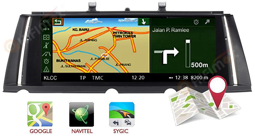 bmw 7 series f01 f02 navigation can install google map,sygic,igo map etc