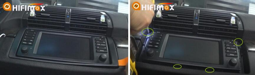 Installation for bmw x5 e53 gps navigation