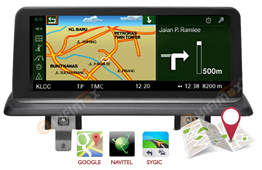 bmw e87 e81 e82 e88 navigation support igo,sygic,google map etc