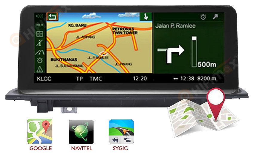 bmw x1 f48 navigation support igo,sygic,google maps etc