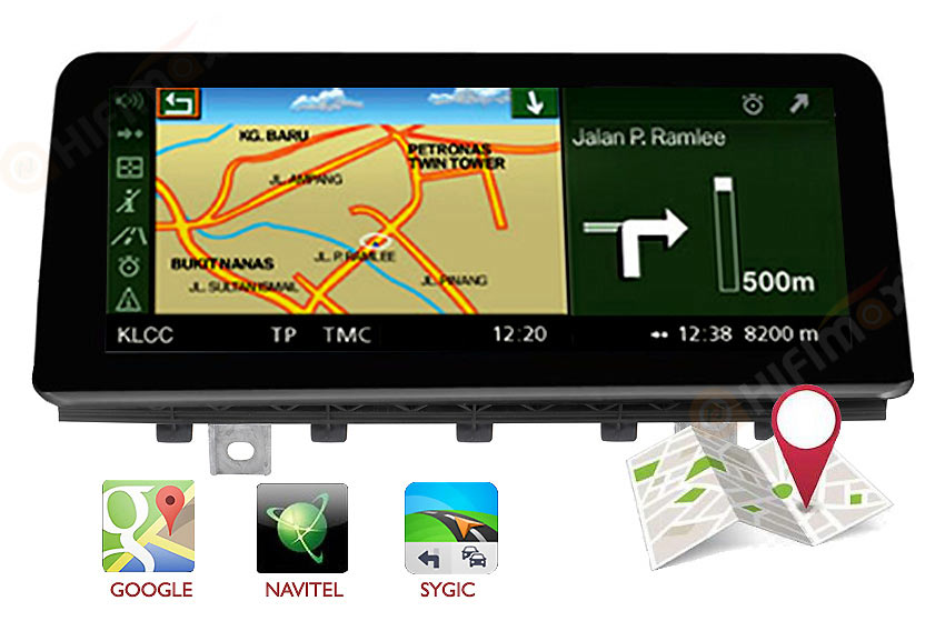 bmw x5 f15 navigation gps support igo,sygic,waze,google maps