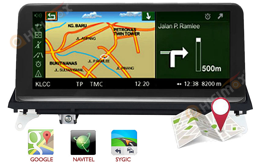 bmw x5 x6 navigation support sygic,igo,google maps etc