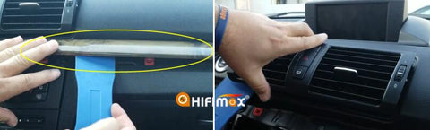 remove the trim panel and AC vents from bmw 1 series
