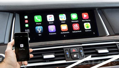 android bmw screen with apple carplay built-in