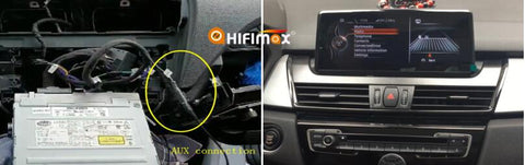 connect the aux cable and then recover the dashboard