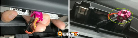 remove the factory LVDS connector from bmw x1 original screen