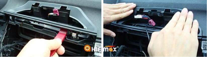 remove the bmw x1 original base braket and replace it with our oem braket