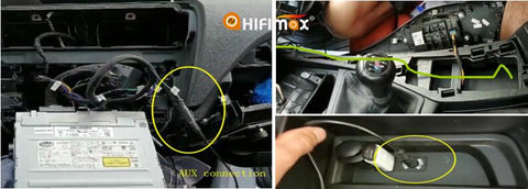 connect the aux cable, so that to have the sound output