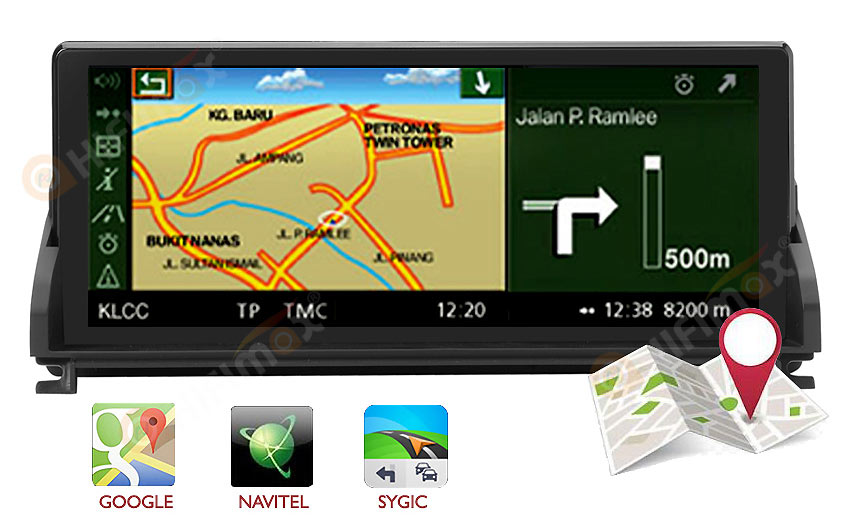 bmw z4 navigation support igo,sygic,waze,google map etc