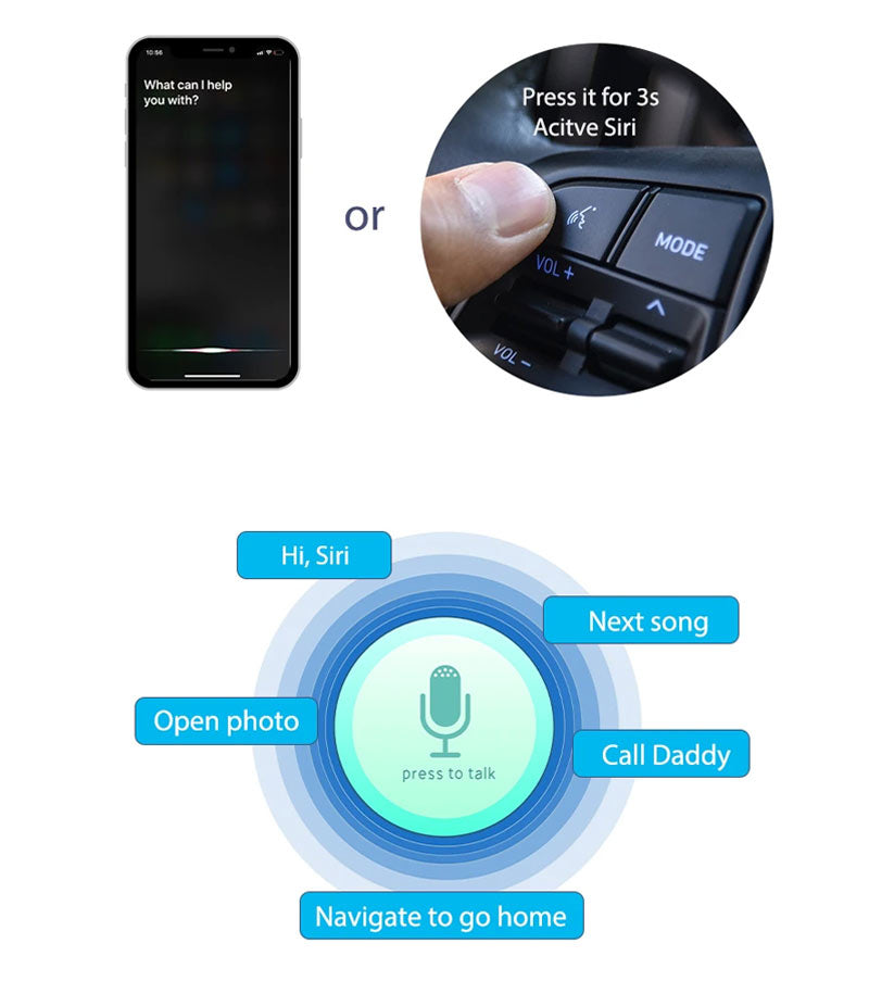 Wireless Apple Carplay Android Auto For BMW Series X1 X3