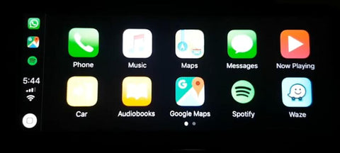 apple carplay interface -support multi-apps like google map,waze, and spotify