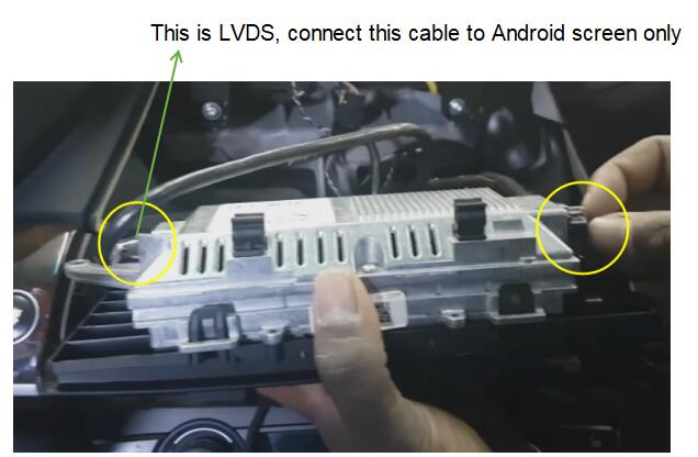 connect the LVDS cable only