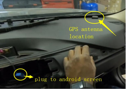 Install the GPS antenna near to the windshield
