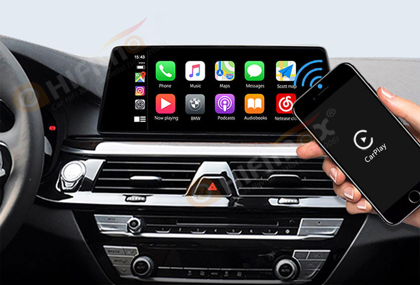 BMW wireless carplay android auto interface installed to the car