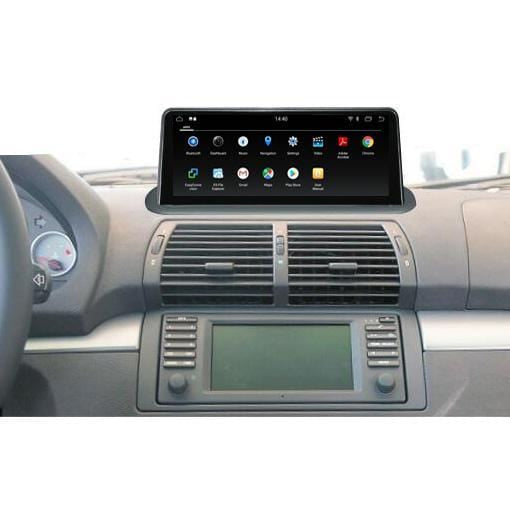 bmw x5 e53 android screen  with GPS navigation system