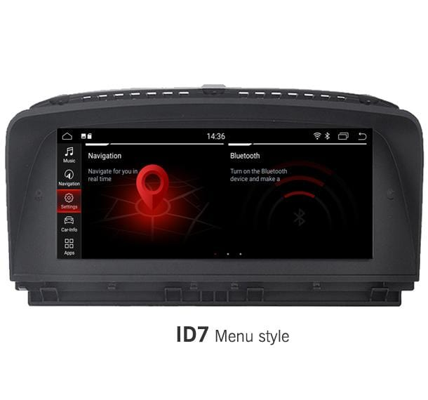 Android BMW 7 series Navigation with latest ID7 menu