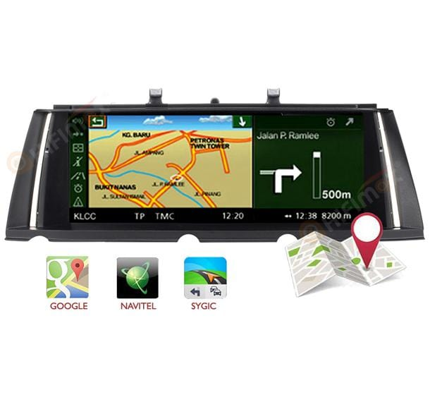 android bmw 7 series navigation support google map, waze, igo etc