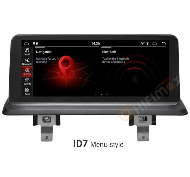 bmw 1 series navigation with id7 menu