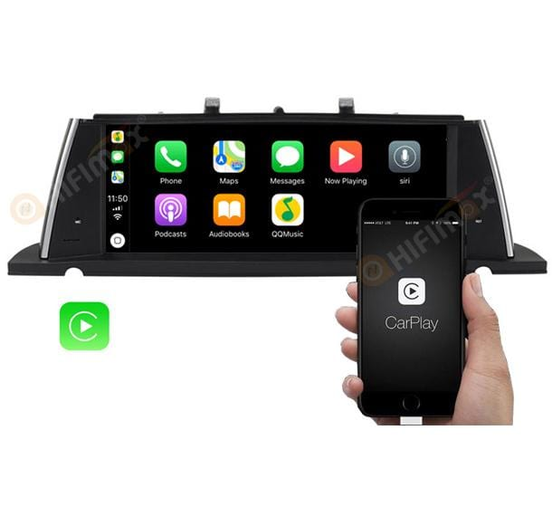 android BMW 5 series navigation support carplay android auto