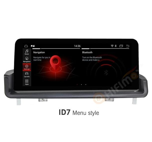 bmw e90 e91 e92 e93 car stereo navigation gps with id7 menu