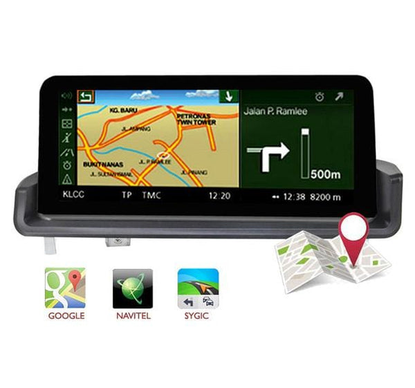 bmw e90 navi head unit support google map, waze etc